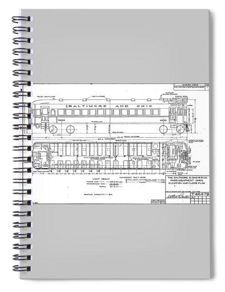 Gas Electric Car Diagram Spiral Notebook