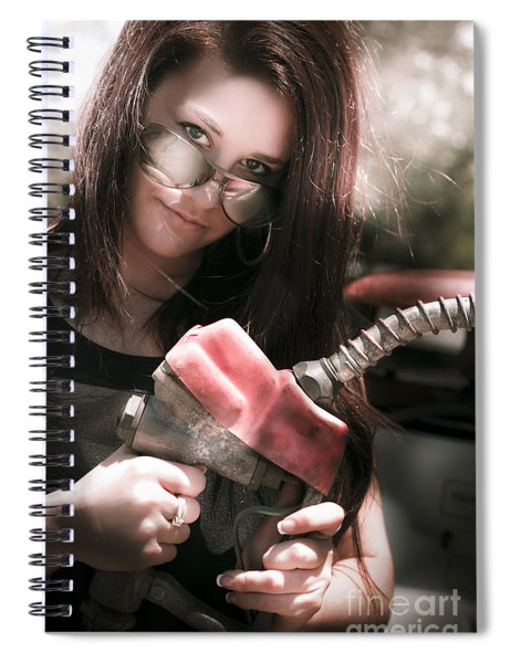 Gas Pump Spiral Notebook