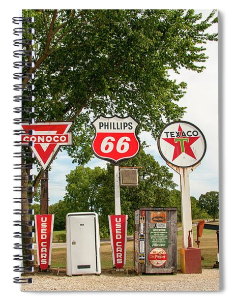 Gas Signage Spiral Notebook