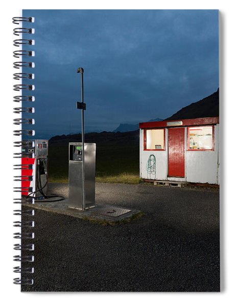 Gas Station In The Countryside, South Spiral Notebook