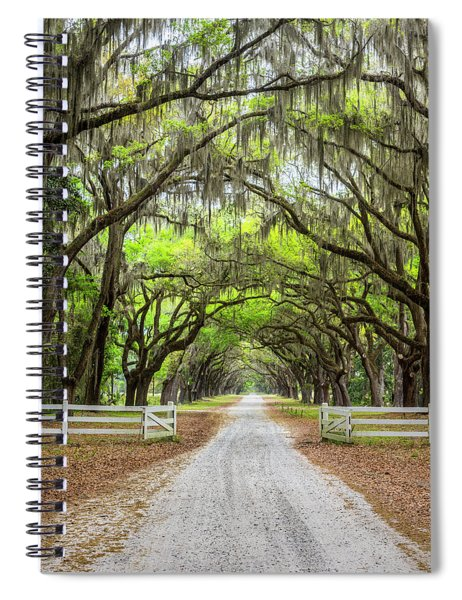 Gated Wormsloe Plantation Spiral Notebook