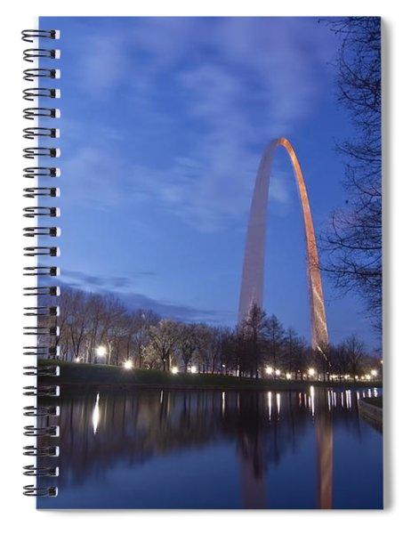 Gateway Arch At Dawn Spiral Notebook