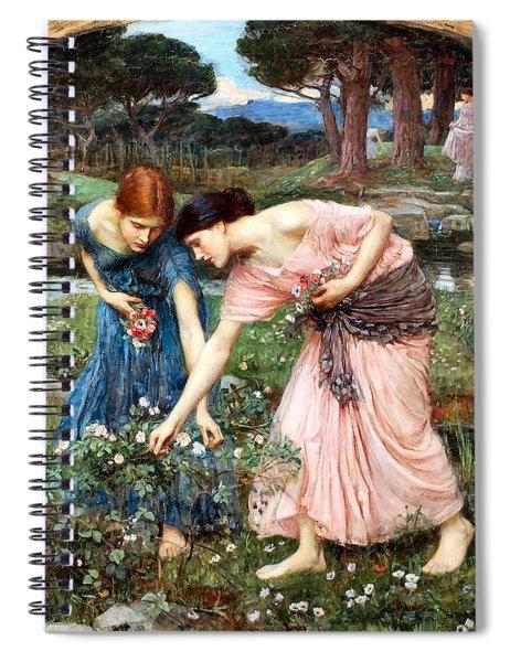 Gather Ye Rosebuds While Ye May Spiral Notebook