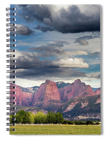 Gathering Storm Over The Fingers Of Kolob Spiral Notebook