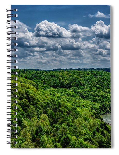 Gauley River Canyon And Clouds Spiral Notebook