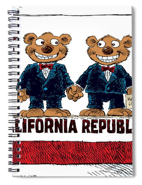 Gay Marriage In California Spiral Notebook