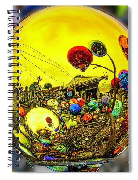 Gaze Ball Land Spiral Notebook