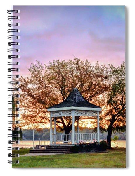 Gazebo Sunrise At Claytor Lake Spiral Notebook