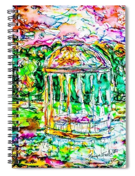 Gazebo Sunset Spiral Notebook