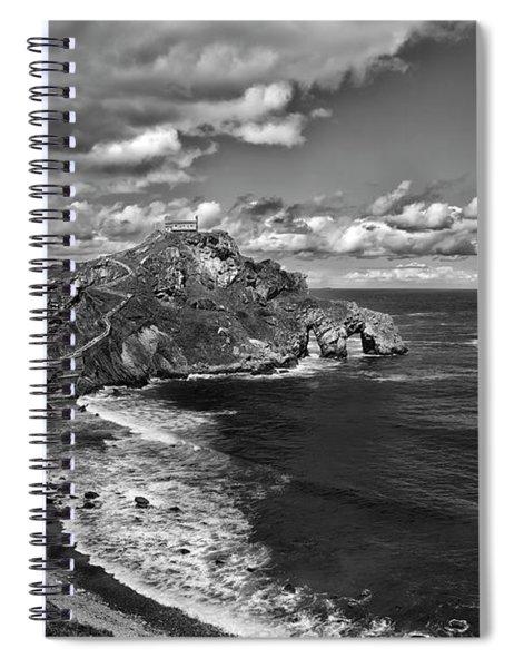 Gaztelugatxe Dragonstone Bw Spiral Notebook