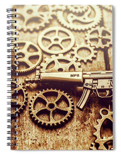 Gear Of Weapon Design Spiral Notebook