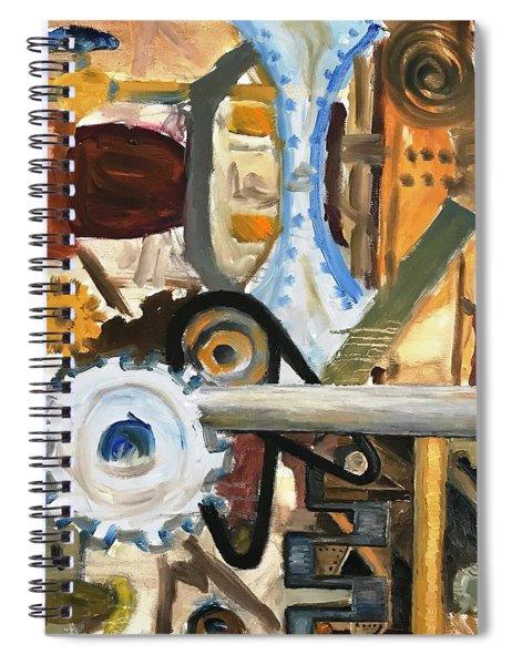 Gears In The Machine Spiral Notebook