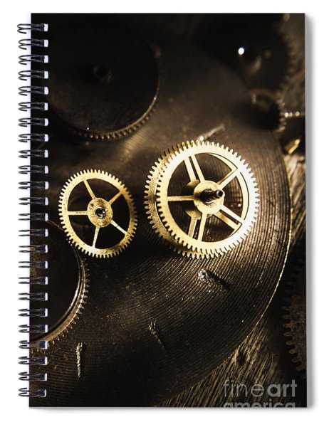 Gears Of Automation Spiral Notebook