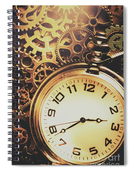 Gears Of Time Travel Spiral Notebook