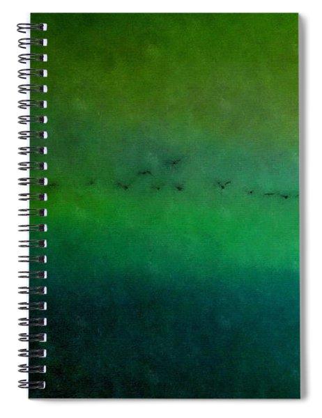 Geese In Flight  Spiral Notebook