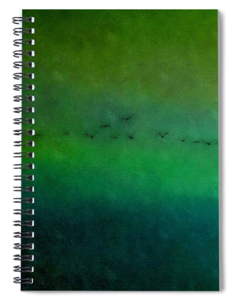 Geese In Flight  Spiral Notebook