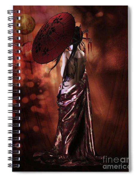 Geisha Gold Spiral Notebook