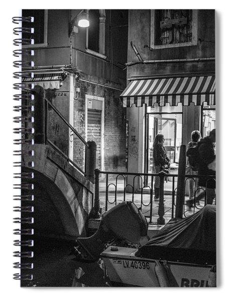 Gelato By The Bridge Venice Italy  Spiral Notebook