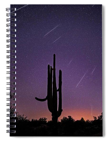 Geminid Meteor Shower #1, 2017 Spiral Notebook