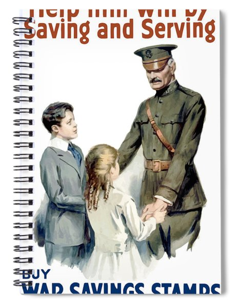 General Pershing - Buy War Saving Stamps Spiral Notebook