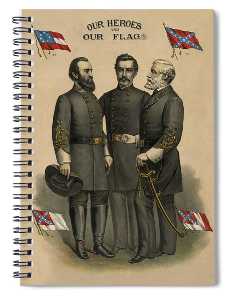 Generals Jackson Beauregard And Lee Spiral Notebook