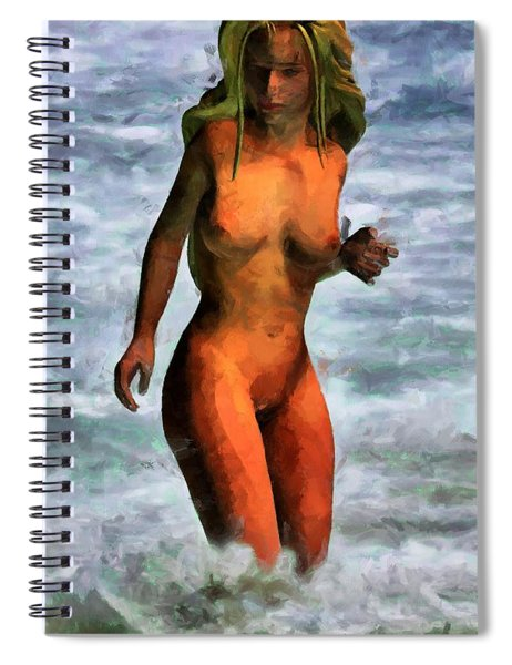 Genie Jumping Waves Spiral Notebook