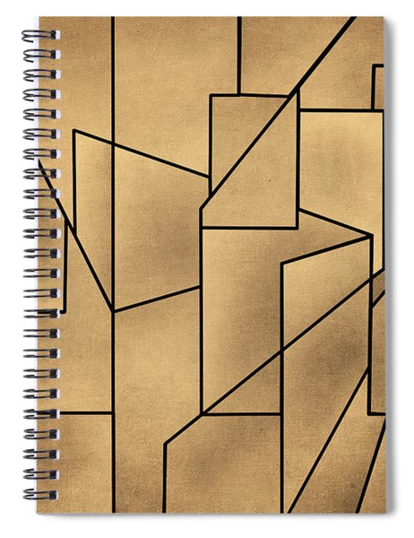 Geometric Abstraction IIi Toned Spiral Notebook