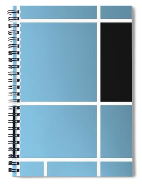 Geometric Composition With Black Rectangle.1 Spiral Notebook