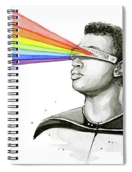 Geordi Sees The Rainbow Spiral Notebook