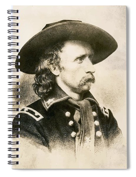George Armstrong Custer  Spiral Notebook by War Is Hell Store