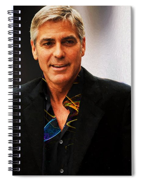 George Clooney Painting Spiral Notebook