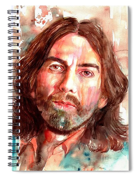 George Harrison Portrait Spiral Notebook