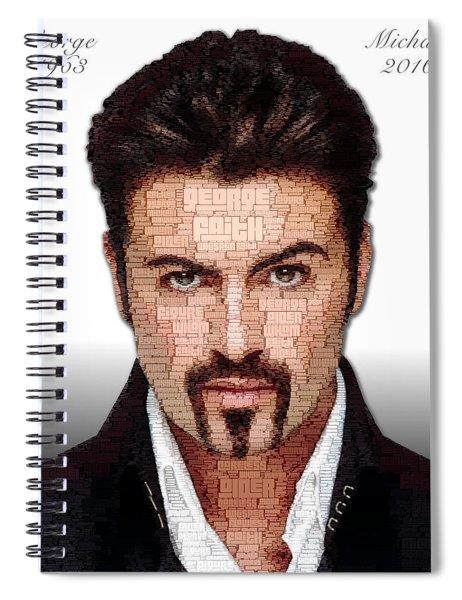 George Michael Tribute Spiral Notebook