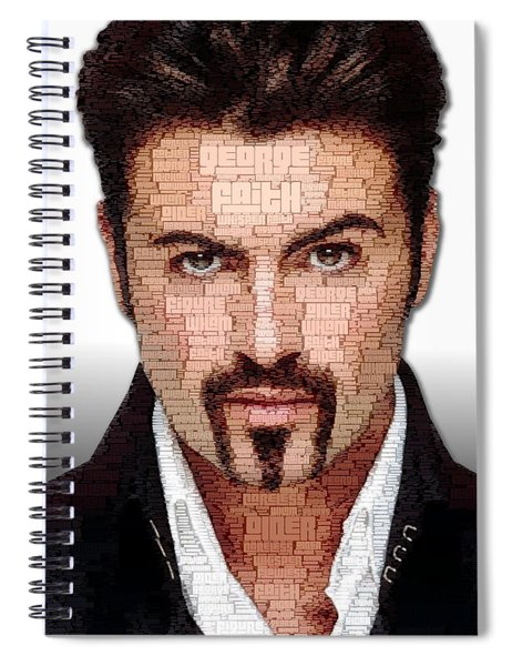 Spiral Notebook featuring the digital art George Michael Tribute by ISAW Company