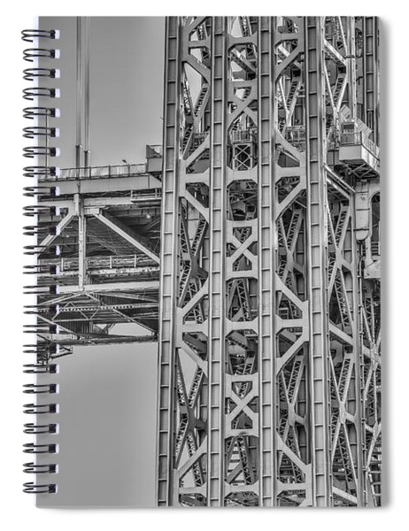 George Washington Bridge Steel Spiral Notebook