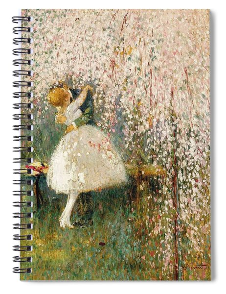 Georges Picard French 1857 1946 Romance Under The Blossom Tree Spiral Notebook