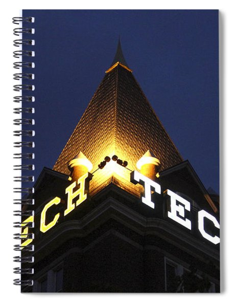 Georgia Tech Georgia Institute Of Technology Georgia Art Spiral Notebook
