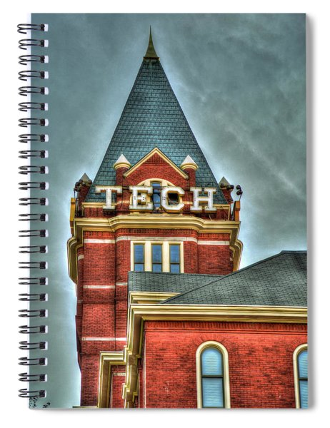 Georgia Tech Tower 8 Georgia Institute Of Technology Art Spiral Notebook