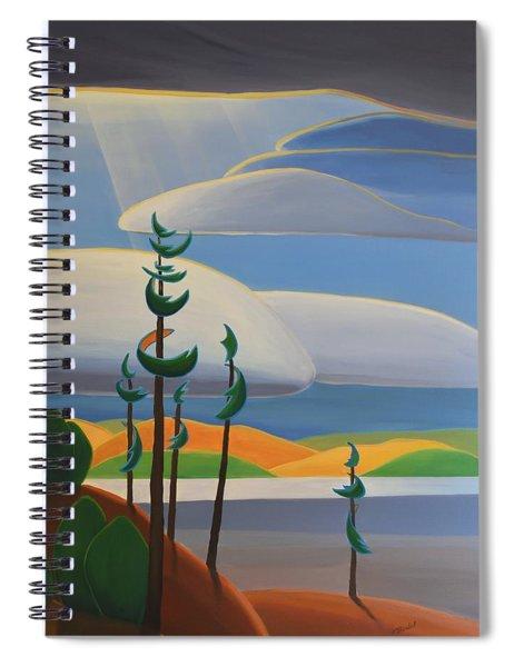 Georgian Shores - Right Panel Spiral Notebook