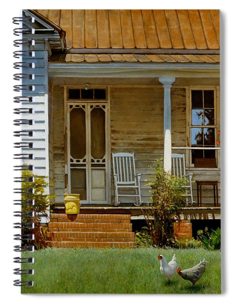 Geraniums On A Country Porch Spiral Notebook