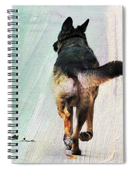 German Shepherd Taking A Walk Spiral Notebook
