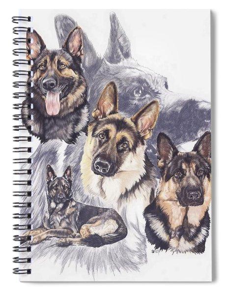 German Shepherd Medley Spiral Notebook