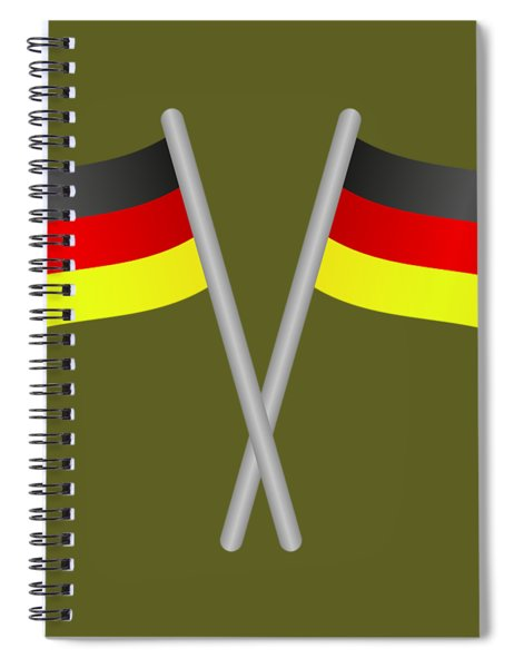 Germany Flag Spiral Notebook