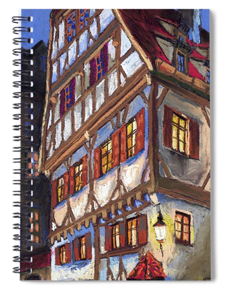 Germany Ulm Old Street Spiral Notebook