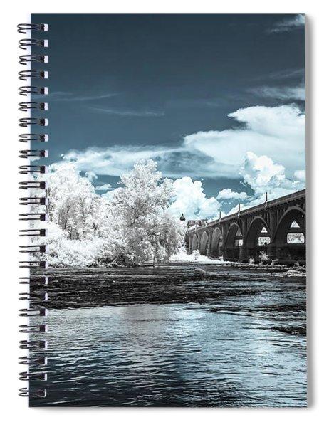 Gervais St. Bridge-infrared Spiral Notebook