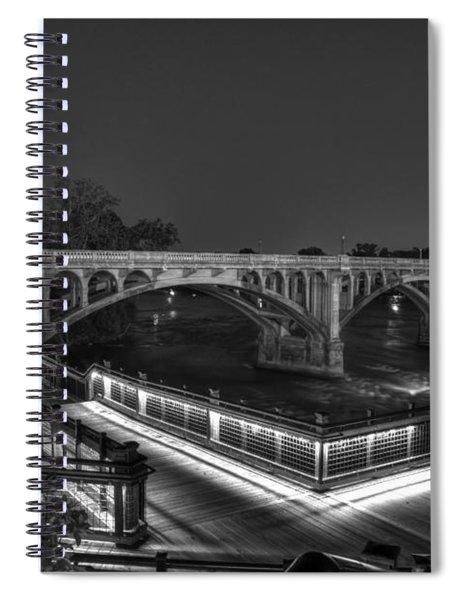 Gervais Street B-w Spiral Notebook