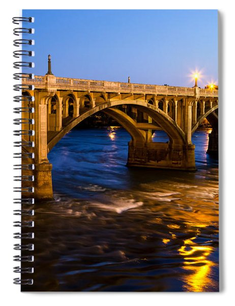 Gervais Street Bridge At Twilight Spiral Notebook