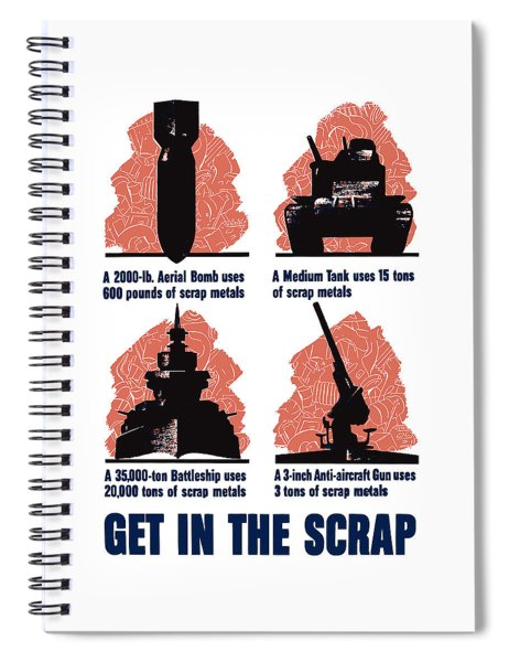 Get In The Scrap - Ww2 Spiral Notebook