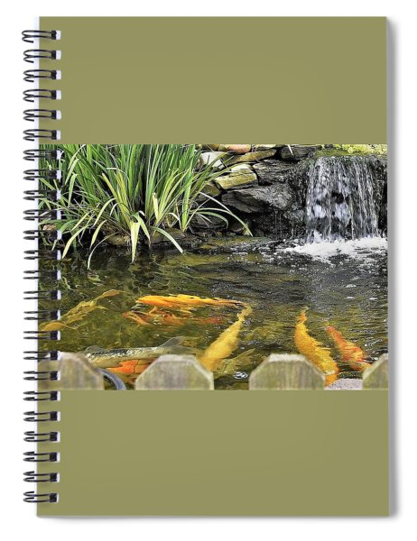 Looking Pretty - Koi At Farmer Girl Spiral Notebook