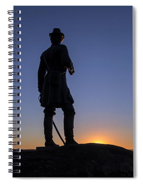 Gettysburg - Gen. Warren At Sunset Spiral Notebook